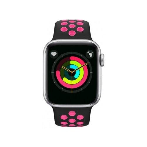 Умные часы BandRate Smart BRST55 серебристый/черный/розовый