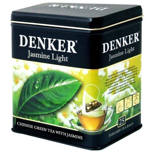 Чай зеленый Denker Jasmine light в пирамидках, 25 шт. denker mellow citrus черный чай в пирамидках 25 шт