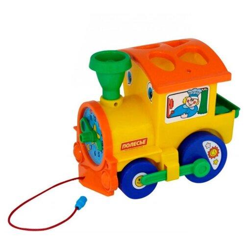 Каталка-игрушка Полесье Занимательный паровоз (5977) желтый игрушка eichhorn паровоз электронный 100001303