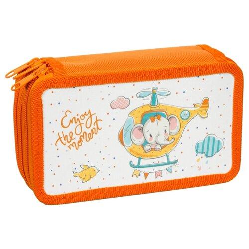Купить ArtSpace Пенал Детские персонажи Веселый слоненок (30П25/3_ПК12_16154) оранжевый, Пеналы