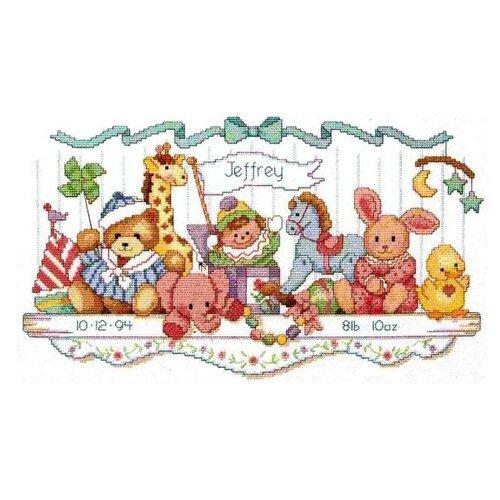 Купить Dimensions Набор для вышивания Полка с игрушками 23 x 41 см (03729), Наборы для вышивания