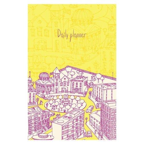 Ежедневник Listoff Солнечный город недатированный, А5, 136 листов, желтый