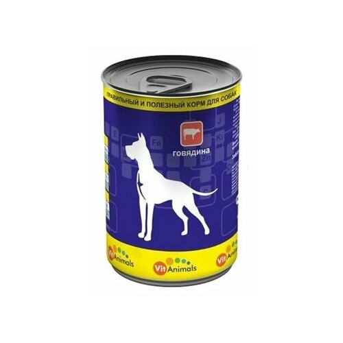 Корм для собак VitAnimals Консервы для собак Говядина (0.410 кг) 12 шт. 12шт. х 410г