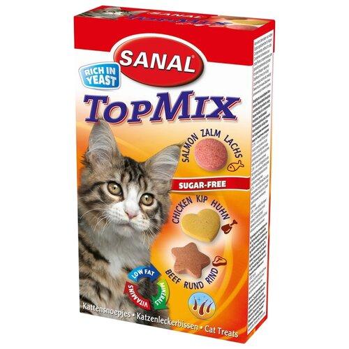 Добавка в корм SANAL TopMix с говядиной, курицей и лососем для кошек и котят 50 г