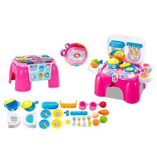 Купить Набор Zhorya Моя профессия ZYB-B1376-2 розовый/голубой/желтый, Детские кухни и бытовая техника