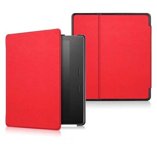 Чехол-обложка MyPads для Amazon Kindle Oasis из качественной эко-кожи с функцией включения-выключения и возможностью быстрого снятия красный