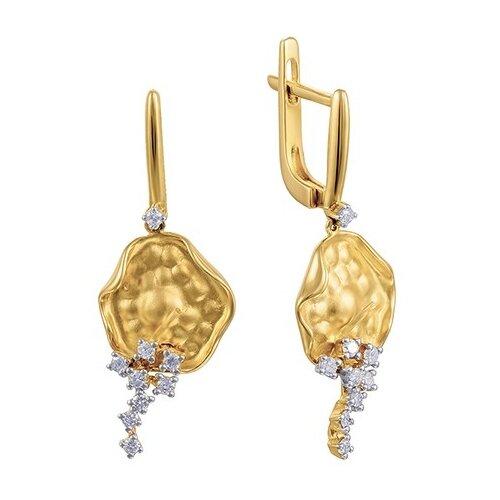 JV Золотые серьги с бриллиантами AAS-3827E-SR-YG