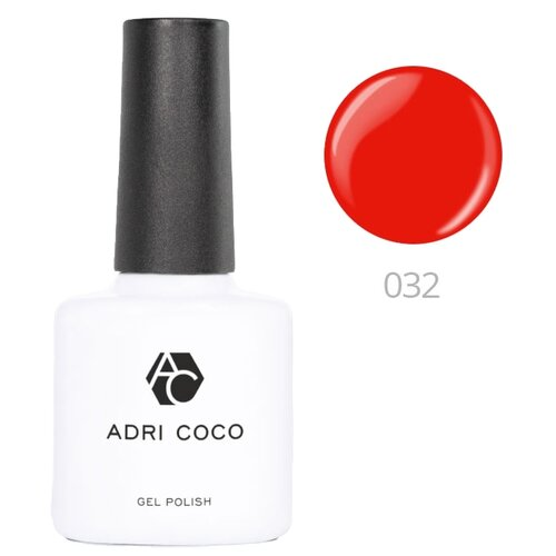 Гель-лак для ногтей ADRICOCO Gel Polish, 8 мл, оттенок 032 алый гель лак для ногтей super gel nail polish 12мл 032 coctail passion
