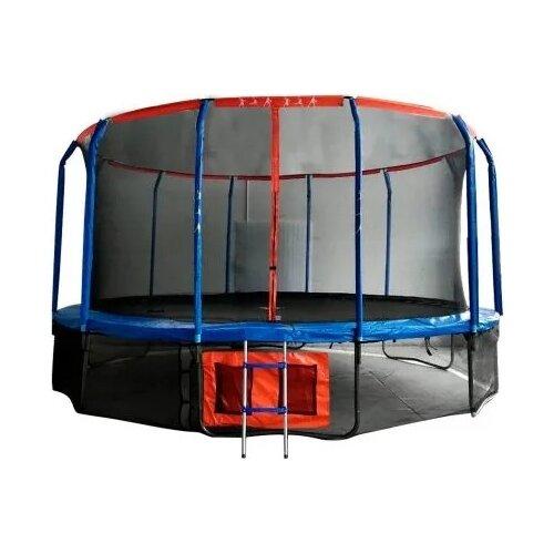 Каркасный батут DFC Jump Basket 16FT-JBSK-B синий/красный каркасный батут dfc jump sun 40inch js b 100х100х22 5 см синий