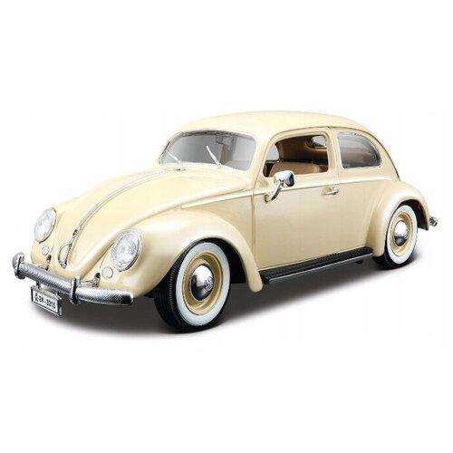 Купить Bburago Машинка металлическая Volkswagen Kafer-Beetle 1955, 1:18, бежевая, Машинки и техника
