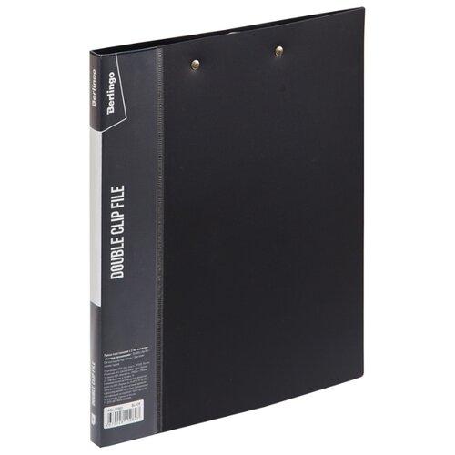 Купить Berlingo Папка с 2-мя зажимами Standard А4, 17 мм, 700 мкм, пластик черный, Файлы и папки