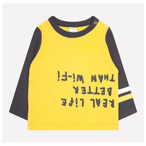 Купить Лонгслив crockid размер 74, желтый/темно-серый, Футболки и рубашки