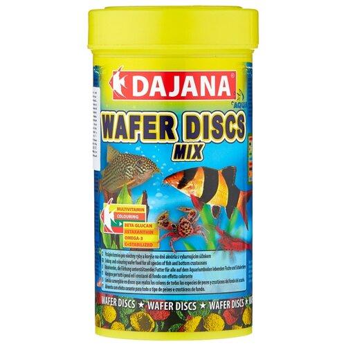 Сухой корм для рыб, ракообразных Dajana Pet Wafer Discs Mix 250 мл 100 г корм сухой prodac algae wafer mini для аквариумных пресноводных рыб в таблетках 135 г