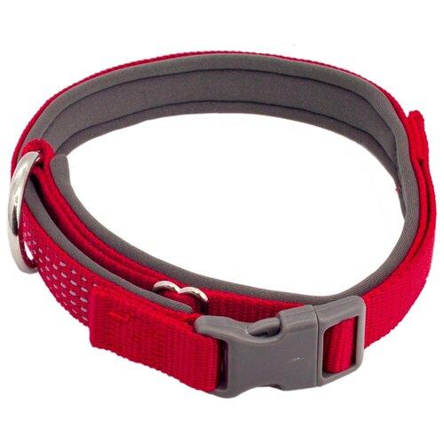Ошейник КАСКАД Premium 26-40 см красный