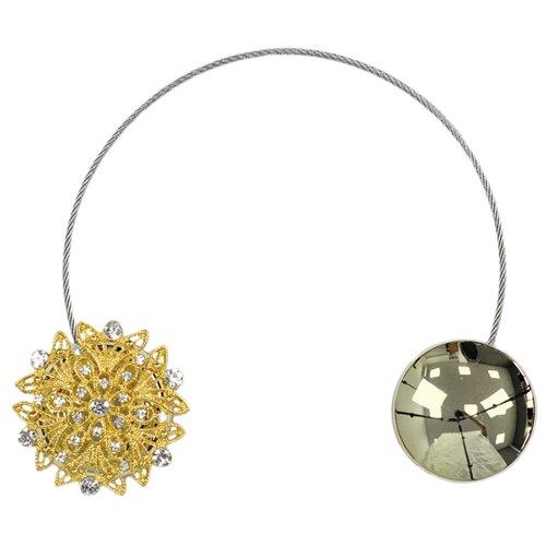 Подхват Ajur MI B38 золотистый магнитные клипсы ajur b49 золотистый