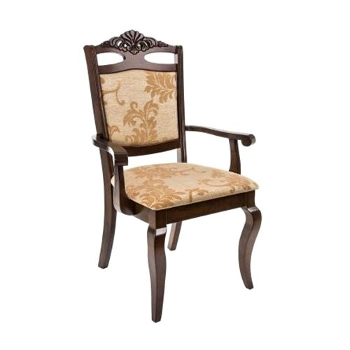 Фото - Стул Woodville Demer с подлокотниками, дерево/текстиль, цвет: cappuccino A2 стул деревянный woodville demer cappuccino
