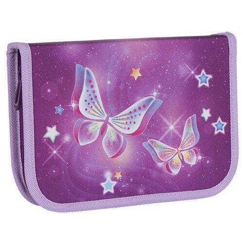 Купить TIGER FAMILY Пенал с наполнением Nature Starry Butterflies, 23 предмета фиолетовый, Пеналы
