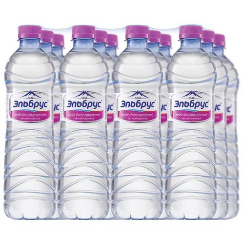 Вода минеральная Эльбрус негазированная 12 штук по 0,5л