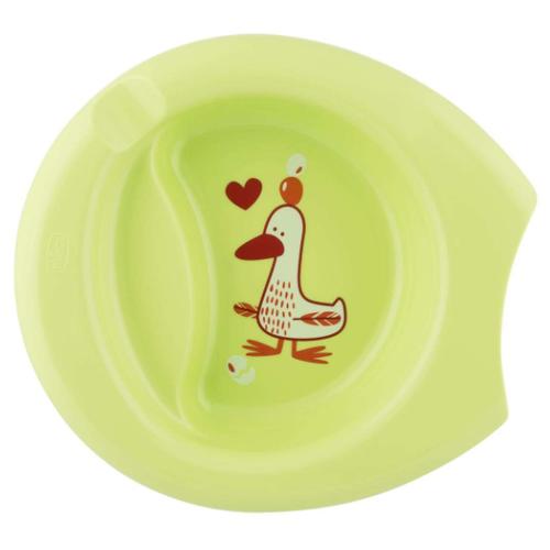 Фото - Тарелка Chicco Easy Feeding 6м+, зеленый тарелка chicco easy feeding 6м розовый