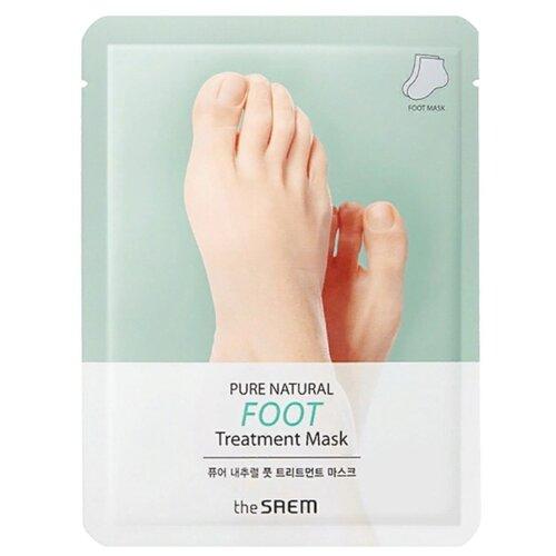 The Saem Маска-носочки для ног Pure Natural Foot Treatment Mask 16 г пакет