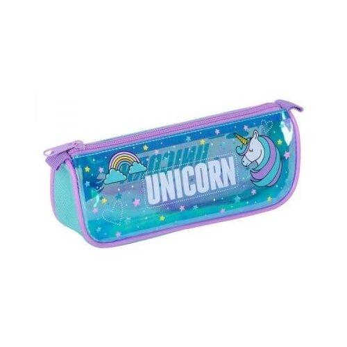 Berlingo Пенал-косметичка Magic unicorn (PM07204) голубой