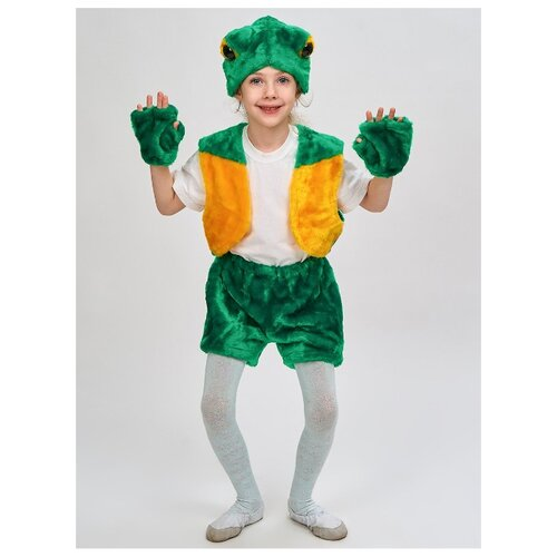 Купить Костюм Радомир Лягушонок (С1020), зеленый, размер 104-134, Карнавальные костюмы