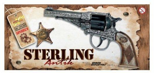 Револьвер Edison Giocattoli Western Deluxe Sterling Antik (220/96)