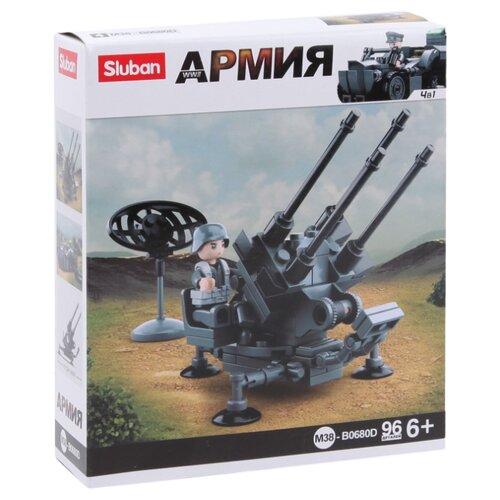 Купить Конструктор SLUBAN WW2 M38-B0680D Зенитная артиллерия, Конструкторы