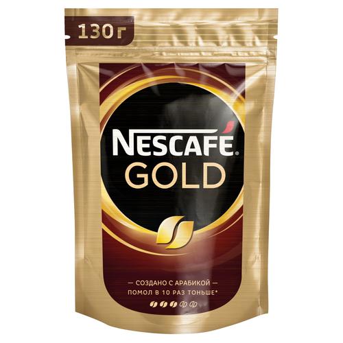 Кофе растворимый Nescafe Gold, пакет, 130 г nescafe gold 100