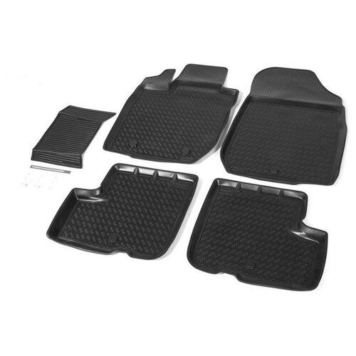 Комплект ковриков RIVAL 16003001 LADA (ВАЗ) Largus 5 шт. черный