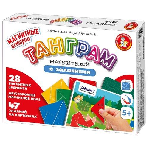Купить Игра магнитно-маркерная Танграм магнитный с заданиями . Десятое Королевство 4053, Десятое королевство, Настольные игры