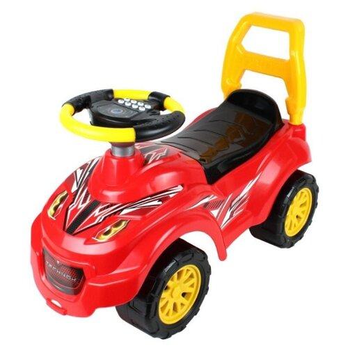 Фото - Каталка-толокар ТехноК Автомобиль для прогулок (6665) красный/черный/желтый каталки технок автомобиль для прогулок т6665