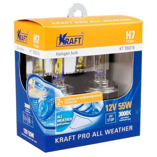 Фото - Лампа автомобильная галогенная KRAFT H7 12v55w (PX26d) Kraft Pro All Weather KT 700218 2 шт. набор отверток kraft professional 2 шт