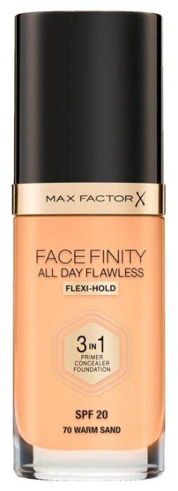 Купить Max Factor Тональный крем Facefinity All Day Flawless 3-in-1, 30 мл, оттенок: 70 Warm Sand по низкой цене с доставкой из Яндекс.Маркета