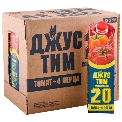 Сок Джус Тим Томат - 4 перца, без сахара, 1 л, 12 шт.Соки, нектары, морсы<br>