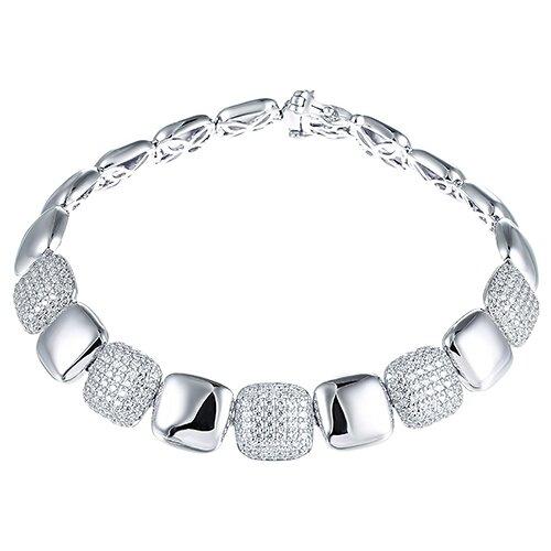 JV Браслет с фианитами из серебра MB049501A0B2-BT-001-WG, 18 см, 20.53 г element47 браслет из серебра 925 пробы с фианитами sb a0009 001 wg 18 см