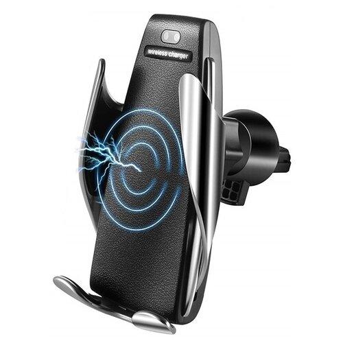 Гравитационный держатель с беспроводной зарядкой Palmexx Wireless charger черный/серебристый