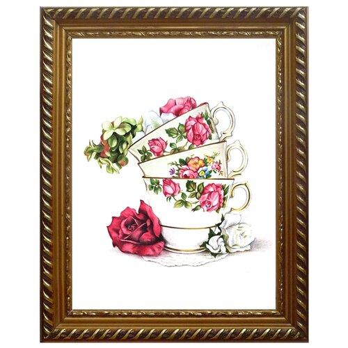Алмазная живопись Набор алмазной вышивки Чайная композиция (АЖ-1436) 30х40 см