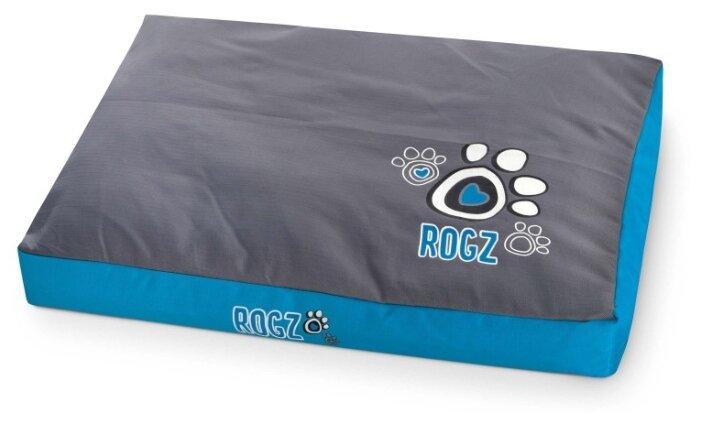 Лежак для собак Rogz Flat Spice Pod Turquoise Paw FPXLCG 129х86х12 см