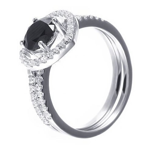 Фото - JV Кольцо с фианитами из серебра R-F0321-KO-004-WG, размер 17.5 jv кольцо с фианитами из серебра car2926 ko 004 wg размер 16