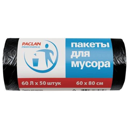 Мешки для мусора Paclan Professional 60 л, 50 шт., черный
