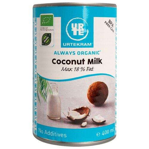 Молоко кокосовое Urtekram Coconut milk 18%, 400 мл