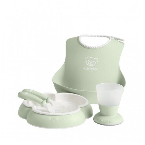 Купить Комплект посуды BabyBjorn 0700 нежно-зеленый, Посуда