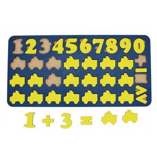 Купить Рамка-вкладыш TAU TOY Арифметика Машинки (6101253), 36 дет., Пазлы