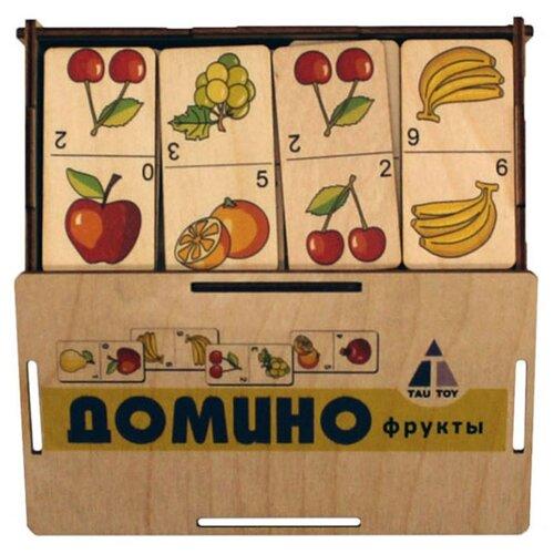 Настольная игра TAU TOY Домино. Фрукты настольная игра умка домино овощи и фрукты 3 в 1
