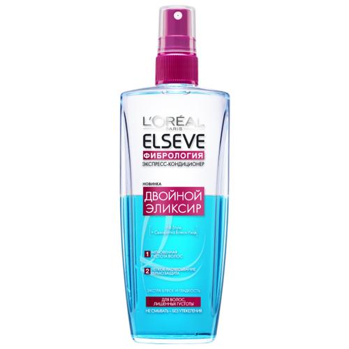 Elseve несмываемый экспресс-кондиционер Фибрология Двойной эликсир для волос, лишенных густоты, 200 мл со эликсир купить
