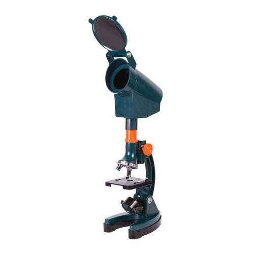 Фото - Микроскоп монокулярный, детский Levenhuk LabZZ M3, 300-1200 крат, 3 объектива, проектор микроскоп levenhuk 320 plus монокулярный