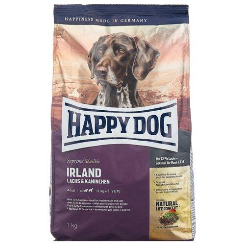 Фото - Сухой корм для собак Happy Dog Supreme Sensible Irland при аллергии, лосось, кролик с ячменём 1 кг сухой корм happy dog supreme sensible adult 11kg irland salmon