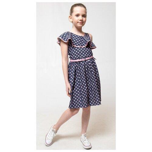 Купить Платье Nota Bene размер 116, темно-синий, Платья и сарафаны