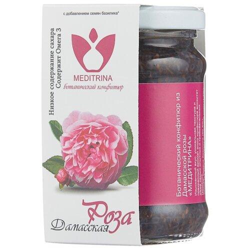 Ботанический конфитюр MEDITRINA из Дамасской розы, банка 300 г